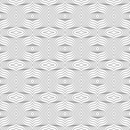 Seamless geometrical pattern. Thin curved line. A wattled modern fashionable background for design of the card, the poster, a flyer, a cover. Vector illustration. Illustration