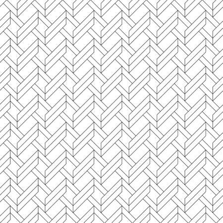 The abstract infinite intertwining pattern. Thin line. Seamless vector ornament.