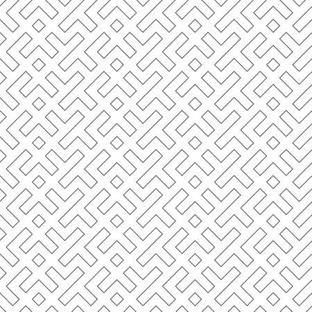 Seamless geometrical pattern. An angular ornament on wall-paper, fabric, a shirt. Vector template.