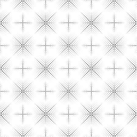 The seamless vector pattern consisting of black points of the different sizes. An abstract background for design of the card, a cover, a flyer.