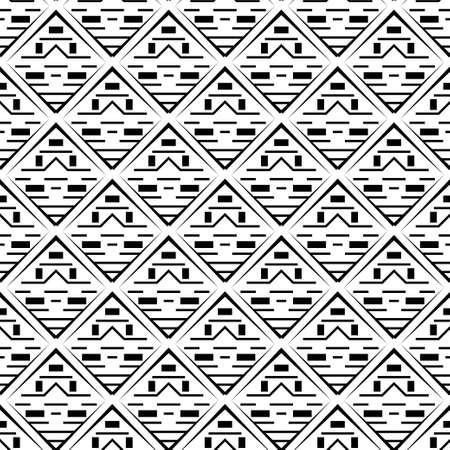 Abstract seamless vector template. A geometrical pattern from rectangles, rhombuses and corners for design of the card, a cover, a flyer.