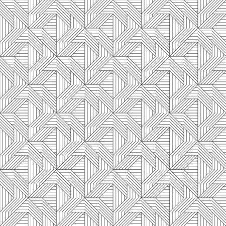 Seamless vector pattern. Monochrome linear ornament. Fabric, shirt, packing.
