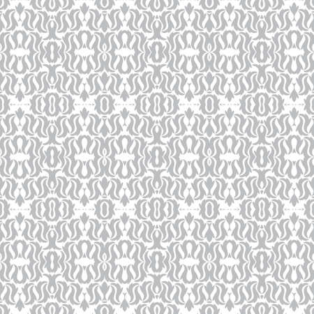 Abstract seamless flower pattern on wall-paper. The Damask ornament of design of packing, on fabric. Vector illustration.
