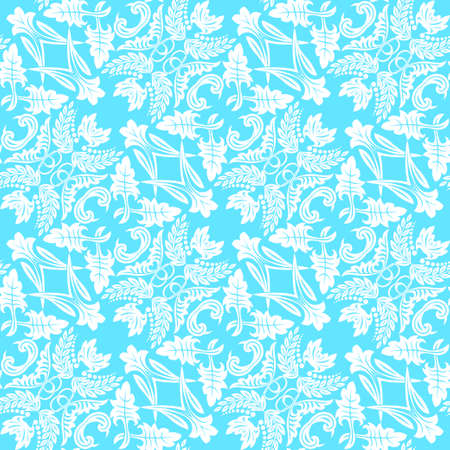 Motif de fleurs transparentes dans un style baroque. Damas. Élément artistique de conception. Graphiques vectoriels.