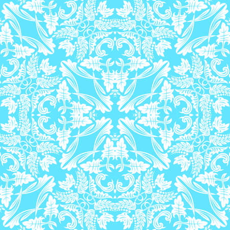Seamless flower pattern in baroque style.  Damascus. Art element of design. Vector graphics. Ilustração