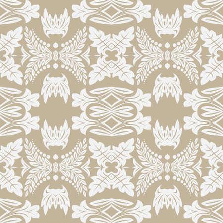 Motif de fleurs transparentes dans un style baroque. Damas. Élément artistique de conception. Graphiques vectoriels. Vecteurs