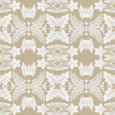Seamless flower pattern in baroque style.  Damascus. Art element of design. Vector graphics. Vectores