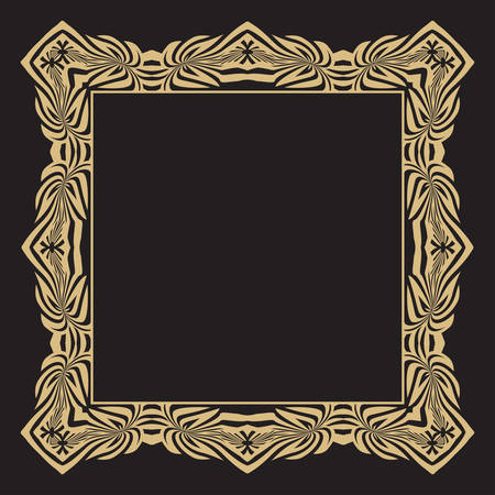 Decorative rectangular frame of a retro of style with the place for the text.  Monogram, greeting card, wedding invitation. Vector graphics.