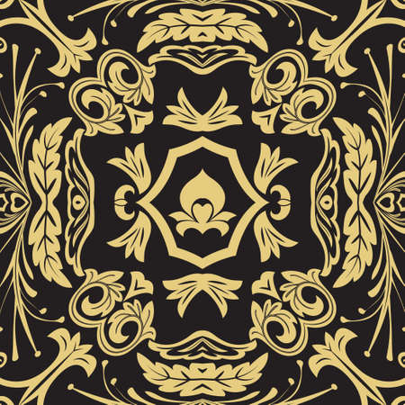 Vector seamless flower pattern. The magnificent ornament which is regularly repeating a retro. Elements of decorative design. Vector graphics.