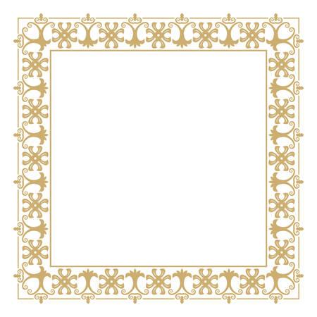 Cadre rectangulaire vintage. Baroque. Élément de conception graphique de monogrammes, d'invitations, de cadre, de menu et d'étiquettes. Illustration vectorielle.