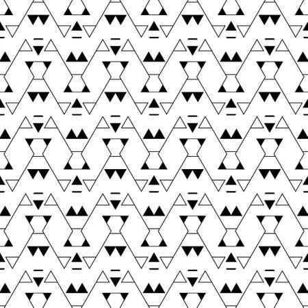 Abstrakte nahtlose Modelle. Moderne geometrische Minimaltextur mit sich regelmäßig wiederholenden geometrischen Formen eine Ecke, eine Raute, einen Zickzack, ein Dreieck. Vektorelement des Designs.
