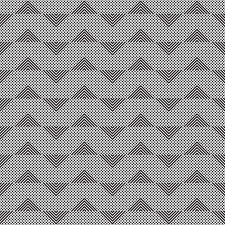 Seamless vector background. An abstract monochrome pattern with points and fat lines. A geometrical ornament of design of infinitely repeating angular forms.