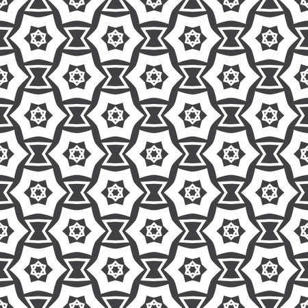 Seamless vector background. An abstract monochrome pattern with a six-pointed star. A geometrical ornament of infinitely repeating forms. Simple elements of design wrapping paper, shirts, cloths.