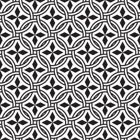 Seamless vector geometrical models. The abstract textured background. The repeating texture with rhombuses, rings, circles. Lattice. A surface for brown paper, a shirt, fabric, the press. Illusztráció