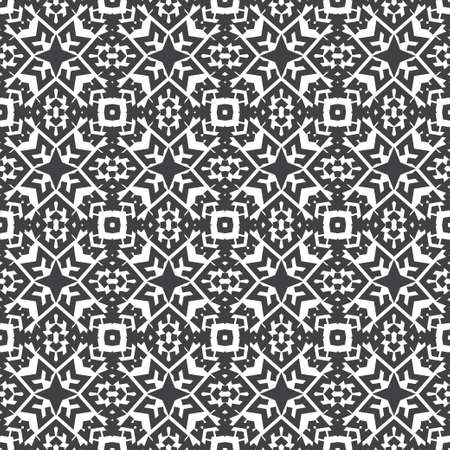 Seamless vector background. An abstract monochrome pattern with a star. A geometrical ornament of infinitely repeating forms. Simple elements of design wrapping paper, shirts, cloths.