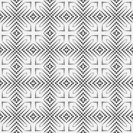 Seamless vector models. Modern geometrical minimalist half tone texture. An abstract ornament from circles of the different size. Dotted line. Design of a card, cover, flyer, packing.