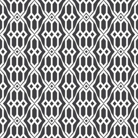 Seamless geometrical vector template. Abstract linear drawing. Graphic design of a lattice. For a cover of cards, wall-paper, fabrics. Vector illustration.  イラスト・ベクター素材