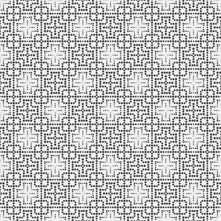 Seamless vector a pattern Modern geometrical texture with angular forms. An abstract ornament with points of the different size. Dashed line. Element of graphic design.