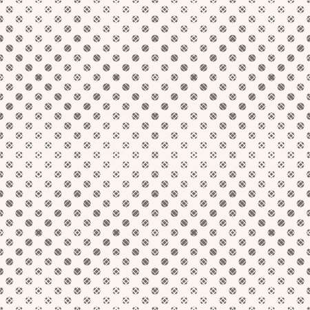 Seamless vector a pattern Modern geometrical half tone texture with angular forms, rhombuses. An abstract ornament with the scattered points of the different size. Element of graphic design.