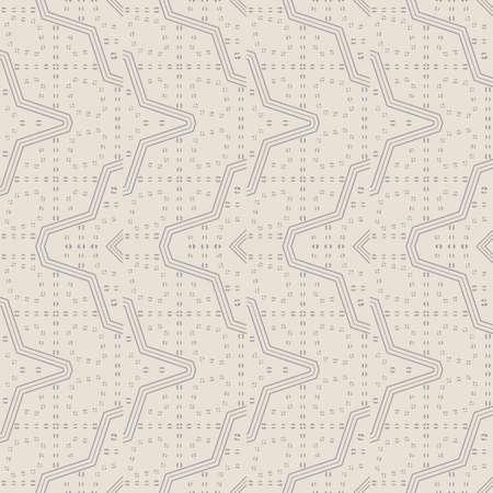 Seamless vector models Modern geometrical minimalist half tone texture. An abstract ornament from the scattered points in the form of the repeating circle, a rhombus, a rectangle, the thin line Иллюстрация
