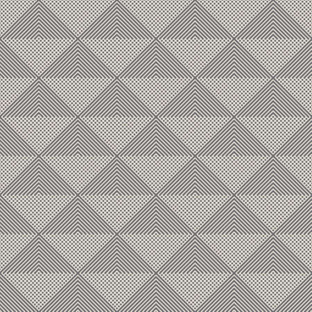 Seamless vector models Modern geometrical minimalist texture. An abstract ornament from points of the repeating tiles with rhombuses, triangles, angular lines