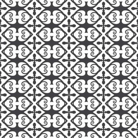 Seamless monochrome vector pattern. Abstract texture with regularly repeating simple geometrical forms. Elements of design of fabric, packing, wall-paper on a wall.