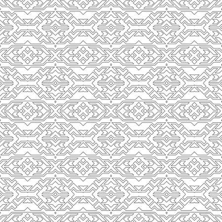 Seamless geometrical vector template. The abstract drawing about rhombuses, lines, a corner, diamond. Graphic design of a lattice. For a cover of cards, wall-paper, fabrics. Vector illustration  イラスト・ベクター素材