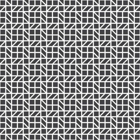 Seamless vector background. Abstract texture with simple geometric shapes. Modern white and black ornament. Simple lattice graphic design.