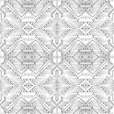 Seamless vector halftone pattern. Abstract modern texture with dotted line, rhombes, angular shapes. Wallpaper design widget.