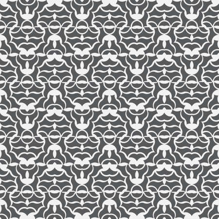 Seamless geometric vector pattern. Abstract pattern with repeating symmetric shapes. Graphic design of a lattice. For the cover of cards, wallpaper, fabric.