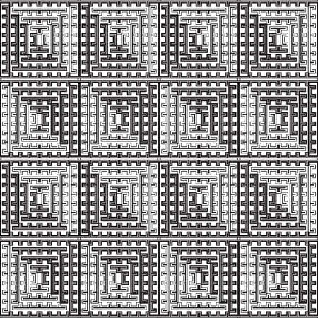 Seamless vector pattern. Abstract geometric background with infinitely repeating tiles. Graphic design element lattice.