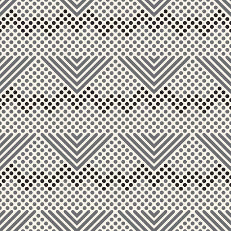 Seamless pattern Modern geometrical half tone texture with angular forms, rhombuses. An abstract ornament with the scattered points of the different size. Element of graphic design.