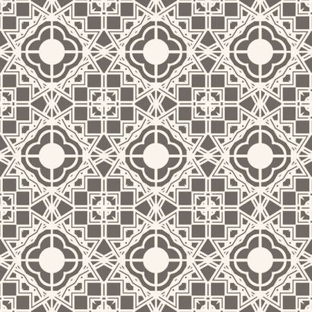 Mosaic with regular alternation of geometrical forms with rhombuses, diamonds, rectangles. Abstract ornament of graphic design.