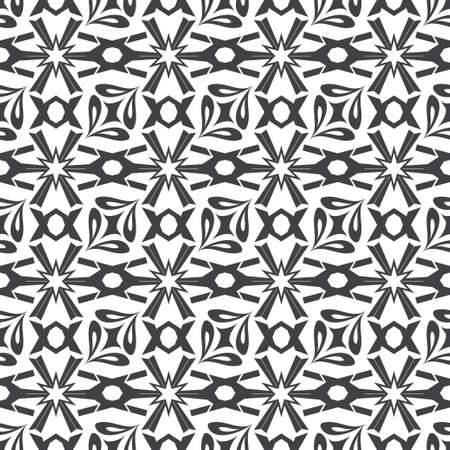 Seamless geometric pattern. Abstract pattern with repeating symmetric shapes. Graphic design of a lattice. For the cover of cards, wallpaper, fabric.