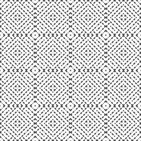 Seamless abstract pattern. Geometrical pin stripe design ornament from rhombuses, cubes, rectangles of lines. Fabric, cover, packing.