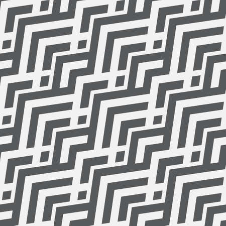 Abstract geometric seamless pattern with zigzag lines, stripes, triangle shapes. Modern texture. Vector repeat monochrome geometrical background. Ethnic motif graphic design. 向量圖像