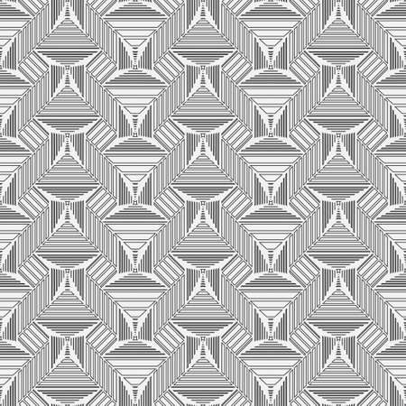 Seamless geometric vector pattern. Abstract background with the repeating rectangular shapes forming rhombuses and squares. Graphic design of a lattice. For the cover of cards, wallpaper, fabric.