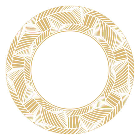 Vector circular stylish frames. The place for the text. Art ornament in the Arab style of elements of design of luxury goods, logos, monograms.
