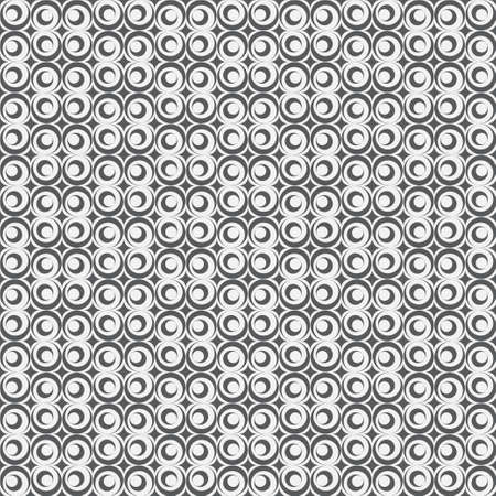 Monochrome seamless pattern. Abstract modern vector background with rombs, elips, arcs. Simple geometric black and white models. Stock Illustratie