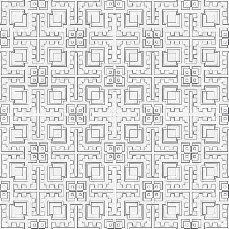 Seamless geometric pattern. Stylish abstract background. Modern vector linear texture with thin lines. Regularly repeating geometrical tiled grid with rhombuses, diamonds, zigzags, rectangles.
