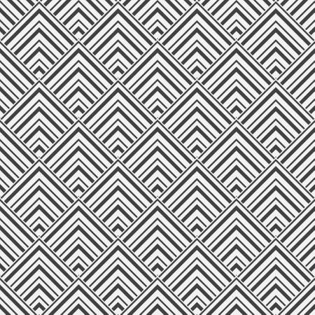 Seamless geometrical background. Abstract pattern from angular forms in the form of pyramids. White and black ornament. Vector lattice design graphic.
