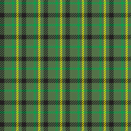 Classical checkered tartan pattern. Seamless abstract texture with intersecting stripes. Geometric color wallpaper. Scottish cage. Print for flyers, shirts and textiles. Vector graphics.