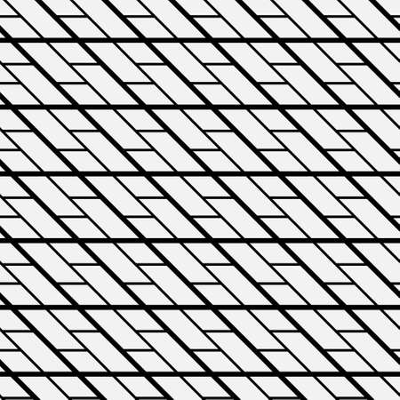 Seamless geometric pattern with lines. Stylish monochrom texture. Abstract modern vector background. Simple lattice graphic design. 向量圖像