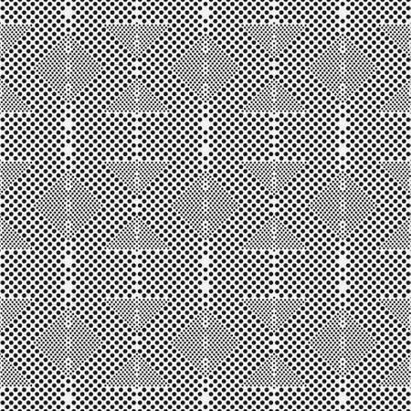Abstract seamless background vector. Monochrome texture in peas. Small and more distorted circles. Graphic design of cover, wallpaper, poster, packaging.
