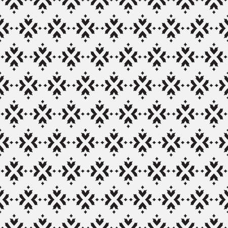 Seamless black white wallpaper. Abstract background with repeating geometrical shapes. Graphic design of a lattice. For the cover, of cards, wallpaper, fabric.