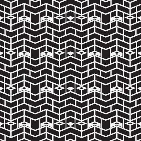 Abstract geometric seamless pattern with zigzag lines, stripes, triangle shapes. Modern texture. Vector repeat monochrome geometrical background. Ethnic motif graphic design. Ilustrace