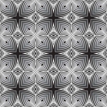 Seamless monochrome vector pattern. Abstract geometric background. Modern minimal texture with simple geometric forms. Graphic design. Векторная Иллюстрация