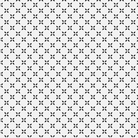 Seamless geometrical monochrome pattern. Abstract minimal texture. Simple modern wallpaper for design postcard, poster, flyer, cover. Vector graphics.