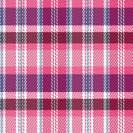 Classical checkered tartan pattern. Seamless abstract texture. Traditional color wallpaper in stripe. Scottish cage. Vector graphics printing on fabrics, shirts, curtains and textiles.