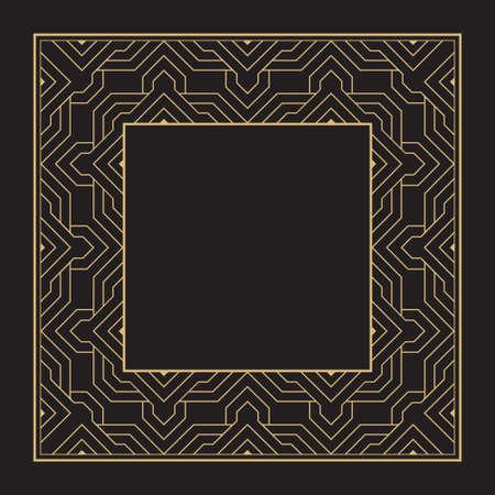 Decorative circular ornament. Geometric stylish frames. Art ornament of elements of design of luxury goods, logos, monograms. Vector illustration.